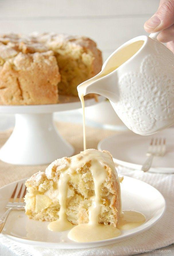 """<p>All you need to know is there is a crust of sugar on top. YES. Please.</p><p>Get the recipe from <a href=""""https://www.thekitchenmccabe.com/2014/03/07/irish-apple-cake-with-custard-sauce/"""" rel=""""nofollow noopener"""" target=""""_blank"""" data-ylk=""""slk:The Kitchen McCabe"""" class=""""link rapid-noclick-resp"""">The Kitchen McCabe</a>.</p>"""