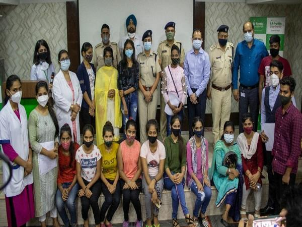 Delhi Police recognised hard work of 12 youth from under-privileged sections of society who successfully completed skill training in healthcare sector,