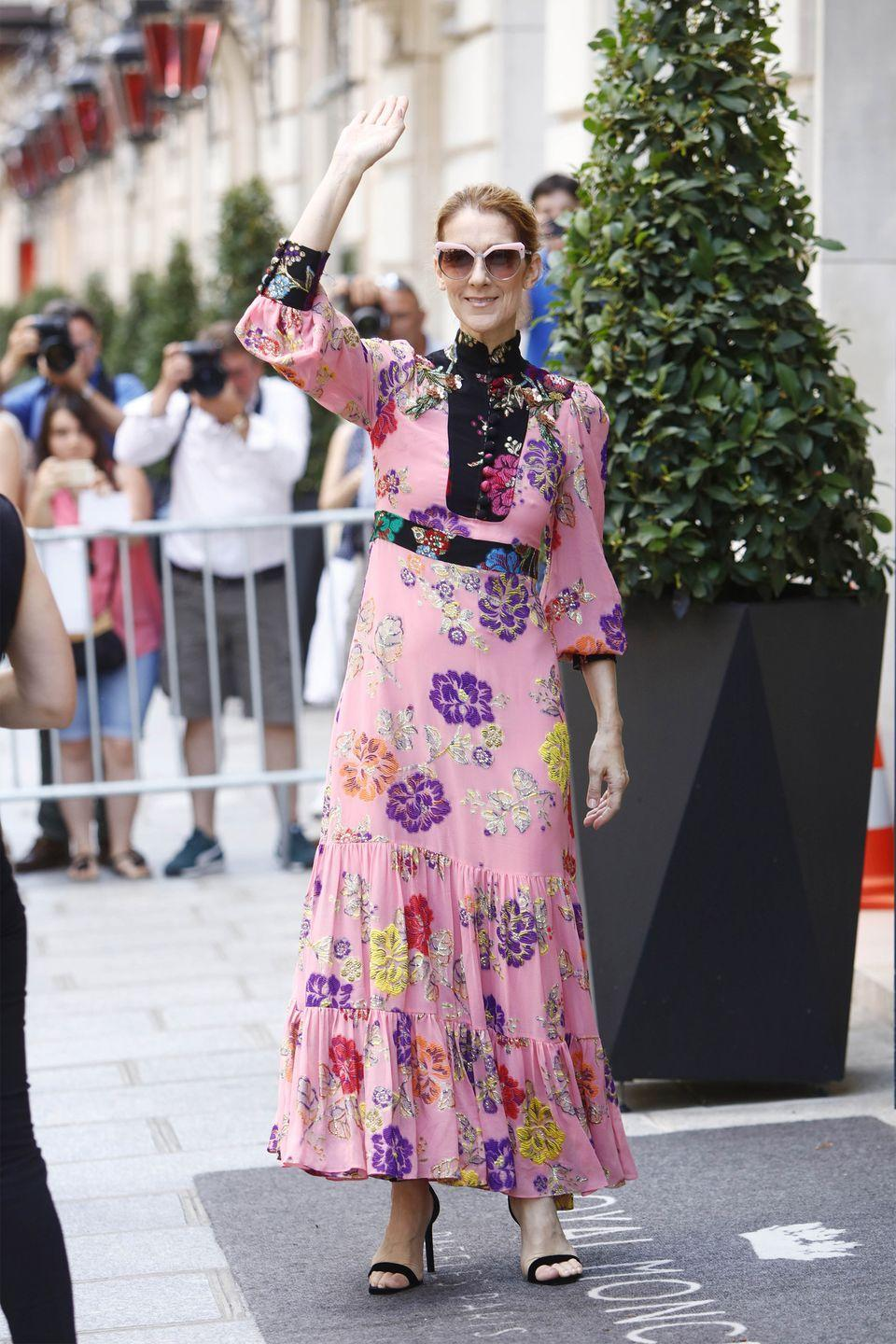 <p>Just one day later, she went for it in another head-to-toe Gucci outfit. This time, a pink floral dress and strappy heeled sandals. <br></p>