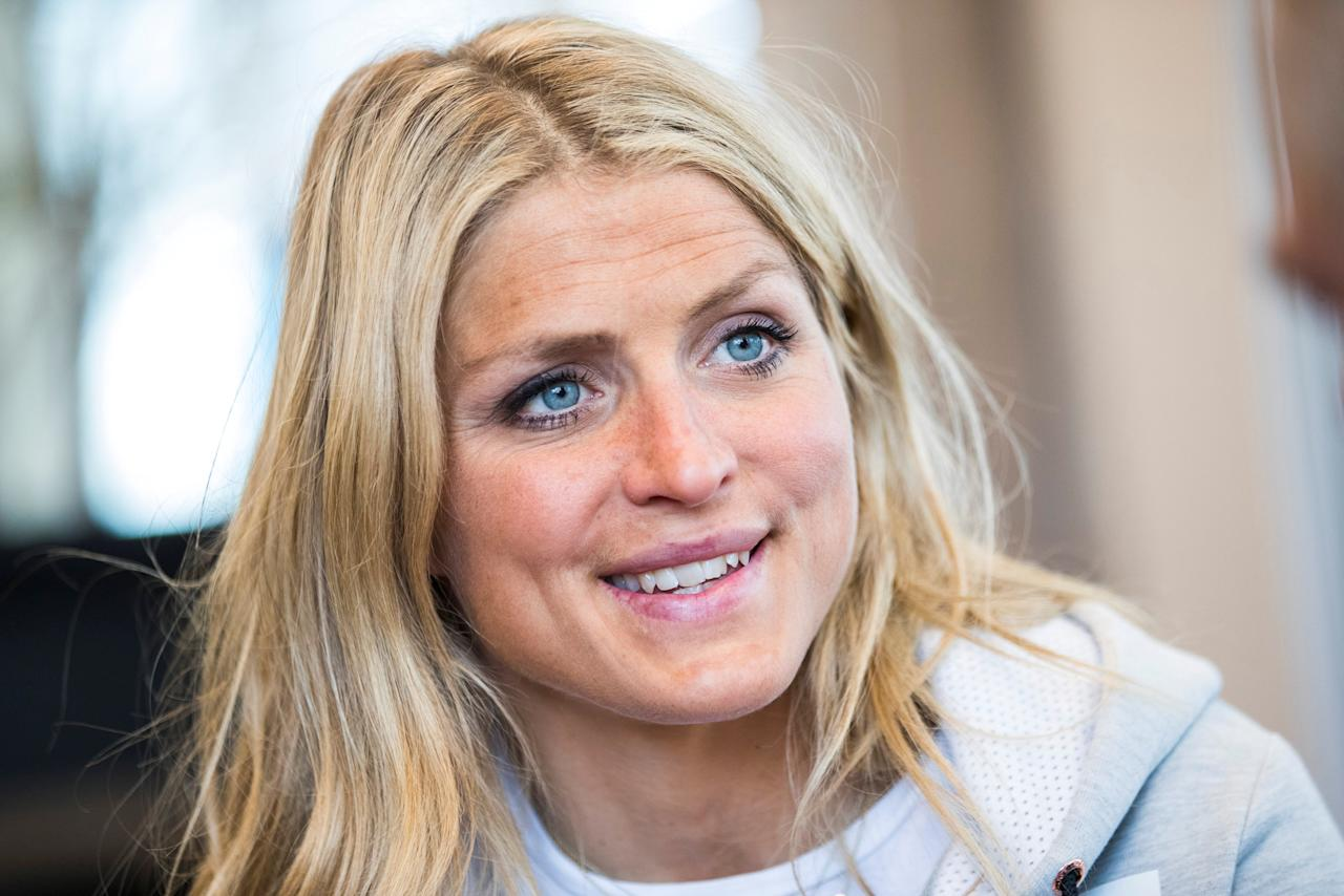Cross country skier Therese Johaug attends a news conference in Oslo, Norway April 19, 2018.  Johaug, a triple Olympic medalist and seven-time world champion has finished her 18-months suspension, after testing positive in September 2016 for a steroid found in a cream given to her by a team doctor to treat sunburned lips. NTB Scanpix/Hakon Mosvold Larsenn via REUTERS ATTENTION EDITORS - THIS IMAGE WAS PROVIDED BY A THIRD PARTY. NORWAY OUT. NO COMMERCIAL OR EDITORIAL SALES IN NORWAY.