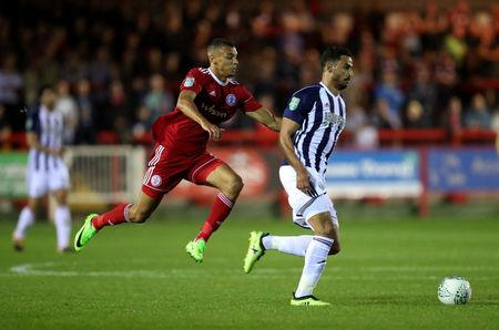 West Bromwich Albion's Nacer Chadli in action.   Action Images via Reuters/John Clifton