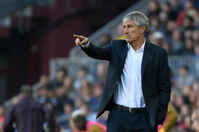 Quique Setien was appointed Barcelona coach in January