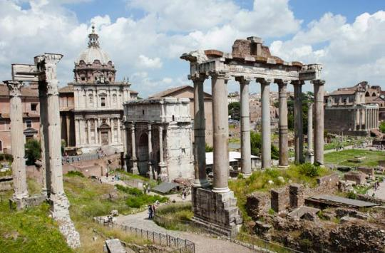 ROMAN FORUM As the saying goes, all roads lead to Rome, and in the Ancient World, all roads led to the Roman Forum. Spread out in the valley between the Palatine and Capitoline Hills, the Roman Forum was the center of the Roman Empire from about 500 B.C. to 400 A.D. All aspects of public life took place here: triumphal processions, elections, public speeches, criminal trials, gladiatorial matches, and commercial affairs. Here, Marc Anthony delivered Julius Caesar's funeral oration and Augustus built the Temple to the Deified Caesar. In 2011, the Tempio di Vesta, where the vestal virgins lived, reopened to the public, granting visitors access to this sacred site. Insider Tip: Take a guided tour to learn about the significance of the ruins and hear fascinating stories of Imperial Rome. Be sure to visit the Colosseum as well. (Photo: Ross Brinkerhoff / Fodor's Travel)