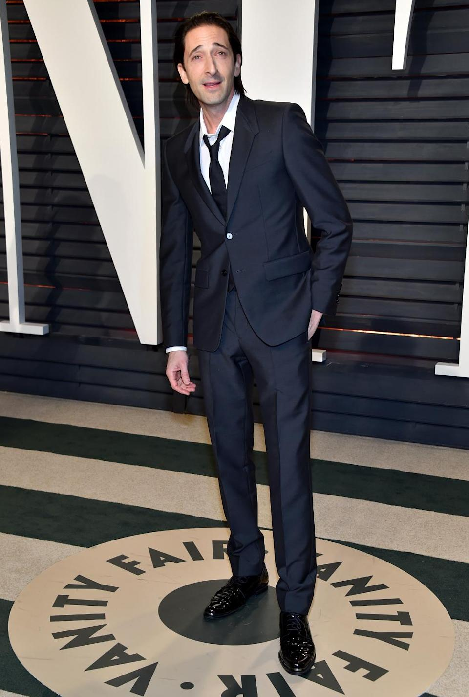 <p>Adrien Brody attends the 2017 Vanity Fair Oscar Party hosted by Graydon Carter at Wallis Annenberg Center for the Performing Arts on February 26, 2017 in Beverly Hills, California. (Photo by Pascal Le Segretain/Getty Images) </p>