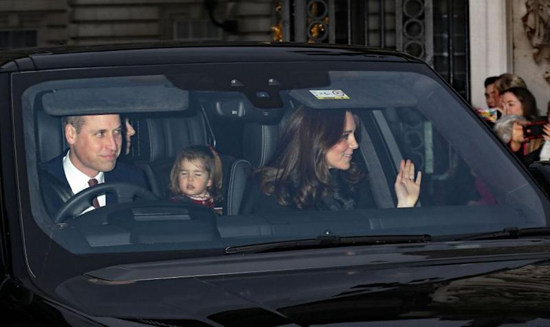 The family waved at the waiting crowds. Photo: Getty Images