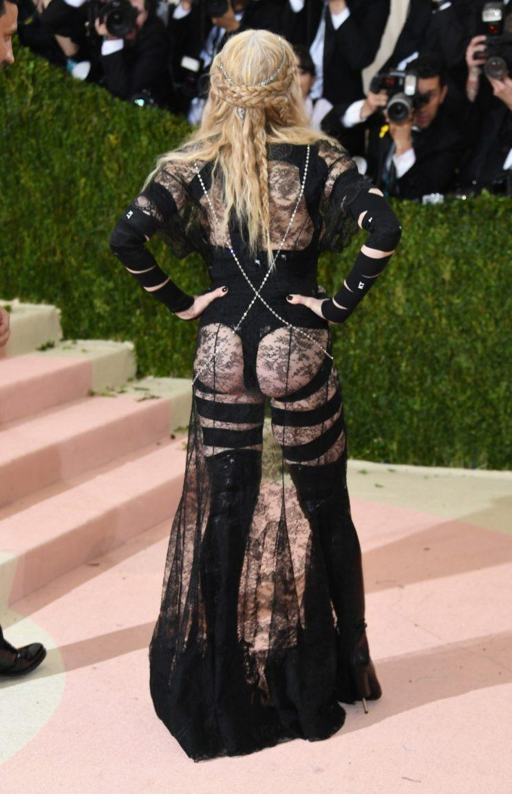 Madonna's revealing Met Ball look was also criticised [Photo: Getty]