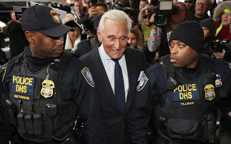 Roger Stone arrives in court