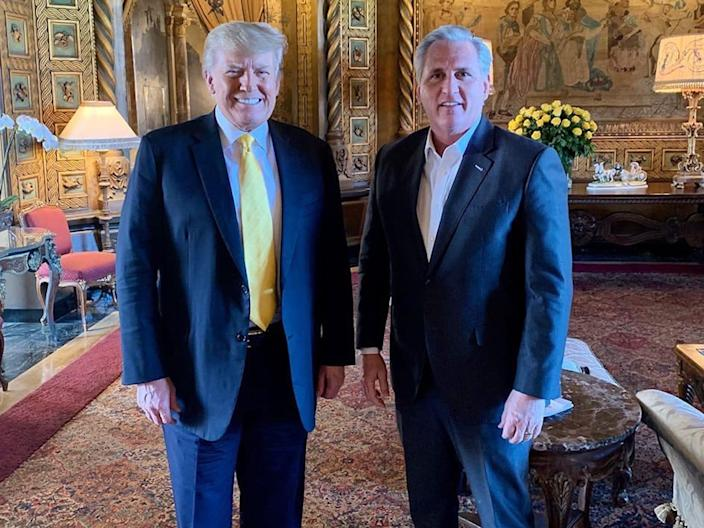 House GOP leader Kevin McCarthy visited Trump in Florida to seek his favor, showing how the party is still beholden to him