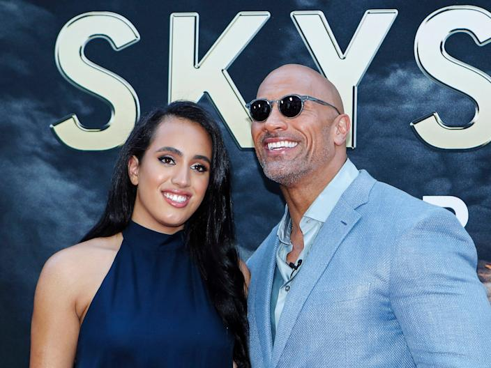 Dwayne Johnson and his daughter Simone Alexandra Johnson.
