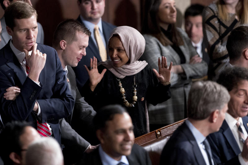Rep. Ilhan Omar (D-Minn.) was one of the top fundraising House Democrats this quarter, per Politico.