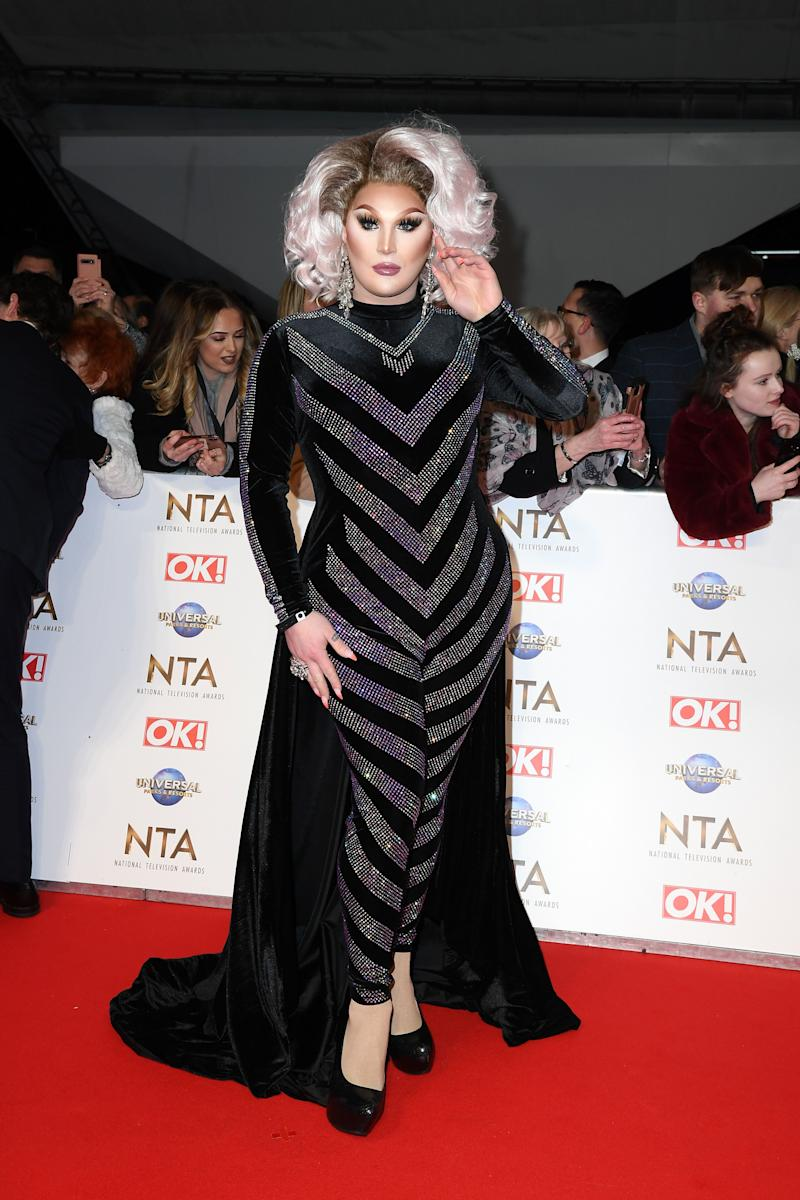 LONDON, ENGLAND - JANUARY 28: The Vivienne attends the National Television Awards 2020 at The O2 Arena on January 28, 2020 in London, England. (Photo by Gareth Cattermole/Getty Images)