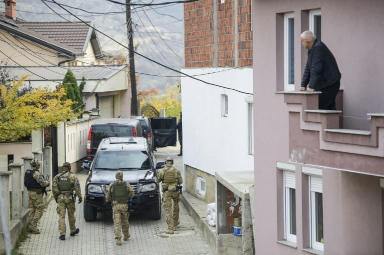 A secial EU police unit arrested former Kosovo Liberation Army (KLA) spokesman Jakup Krasniqi at his home on the outskirts of Pristina