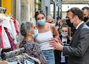 Macron has been meeting the public as part of a tour to 'take the country's pulse'