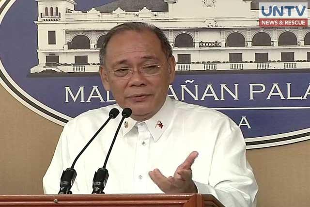FILE PHOTO: Presidential Spokesperson Ernesto Abella