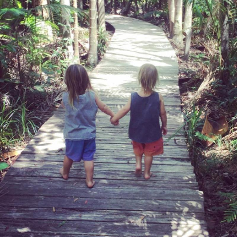 "Chris Hemsworth Posts a Sweet Snap of His ""Little Legends"" Holding Hands"