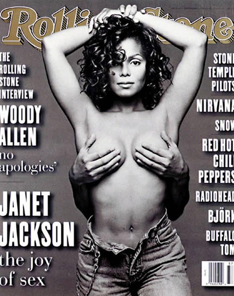 "<b>Janet Jackson, 1993:</b> OK, so maybe the jeans aren't exactly the focus of Janet Jackson's infamous <i>Rolling Stone</i> cover. But along with the pop icon's serene gaze and a strategically placed pair of hands (generously provided by then-husband Rene Elizondo Jr.), the undone jeans undoubtedly added to the seductive quality of the Patrick Demarchelier shot.   <b><a href=""http://www.instyle.com/instyle/package/transformations/photos/0,,20290121_20331288_20719623,00.html?xid=omg-gaga-trans?yahoo=yes"" target=""new"">See Lady Gaga's Style Transformation</a></b> Courtesy Rolling Stone - 1993"