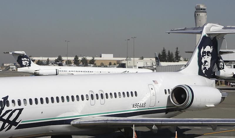 An unauthorized take-off at Seattle-Tacoma International Airport led to atemporarygrounding of all flights Friday night. (GABRIEL BOUYS via Getty Images)