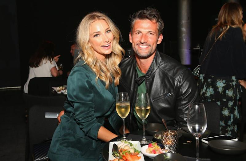Anna Heinrich and Tim Robards pose after the David Jones Autumn Winter 2018 Collections Launch at Australian Technology Park on February 7, 2018 in Sydney, Australia. Source: Getty