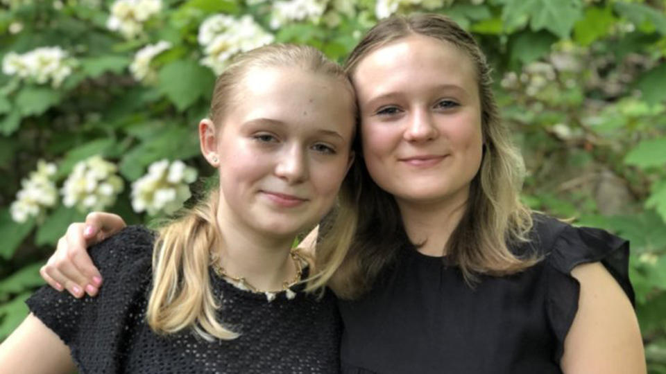 Lily, 17, and Evie, 15, have found a way to combine their passion for baking with making a difference and helping others. (Photo courtesy of Lily and Evie Babcock)