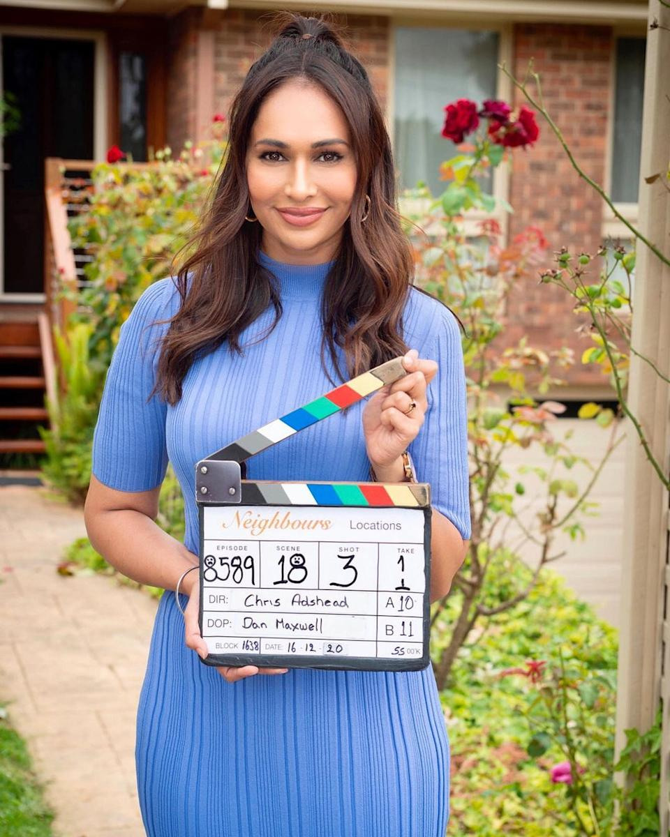 Actress Sharon Johal has also previously spoken out about experiencing racism after appearing on the show. Photo: Instagram/Sharon Johal