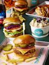 """<p>Satisfying your vegan tastebuds in the capital has never been so easy, thanks to the newly-opened Vurger Co restaurant in Shoreditch.</p><p>The extensive menu features the New York Melt and a Big Mex with jackfruit, Kentucky bites with BBQ sauce, as well as specials like 'The Philly' Cheesesteak for World Vegan Day. </p><p>Their long sharing tables, fully recyclable packaging and white subway tiles make them a firm Insta favourite. </p><p>Other highlights include homemade shakes (did someone say Oreo rum?), as well as a double chocolate cookie ice cream sandwich. </p><p>Warning: With an appetite like ours, you may have to be rolled out at the end.</p><p>For more info, <a href=""""https://www.thevurgerco.com/"""" rel=""""nofollow noopener"""" target=""""_blank"""" data-ylk=""""slk:click here"""" class=""""link rapid-noclick-resp"""">click here</a>.</p>"""
