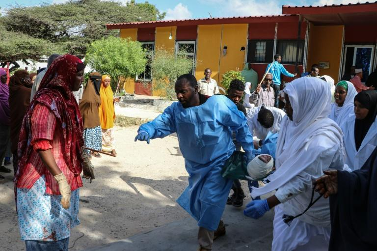 Health services have been overwhelmed by the number of injured people (AFP Photo/Abdirazak Hussein FARAH)