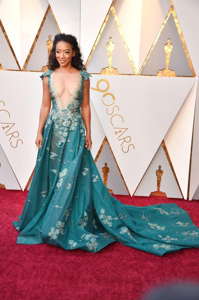 <p>Betty Gabriel attends the 90th Academy Awards in Hollywood, Calif., March 4, 2018. (Photo: Getty Images) </p>