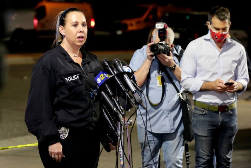 News conference about a shooting at an office building in Orange, California