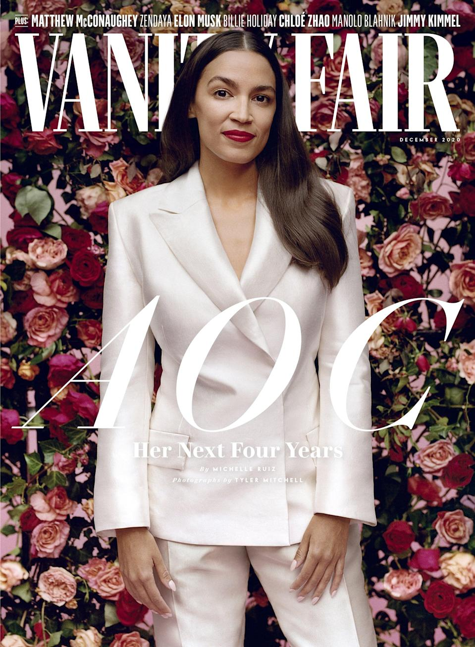 We Must Discuss Alexandria Ocasio-Cortez's Outfits on the Cover of Vanity Fair