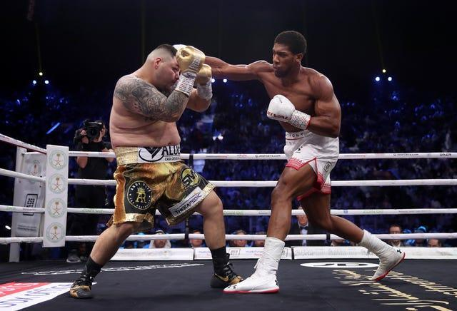 A bloated Andy Ruiz Jr, left, lost to Anthony Joshua in their December 2019 rematch (Nick Potts/PA)
