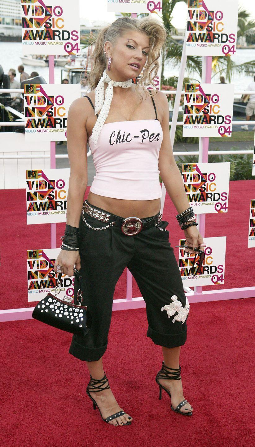 """<p>Tell me more, tell me more—like how Fergie ended up in poodle capris and a tank adorned with """"Chic-Pea"""" at the VMAs.</p>"""