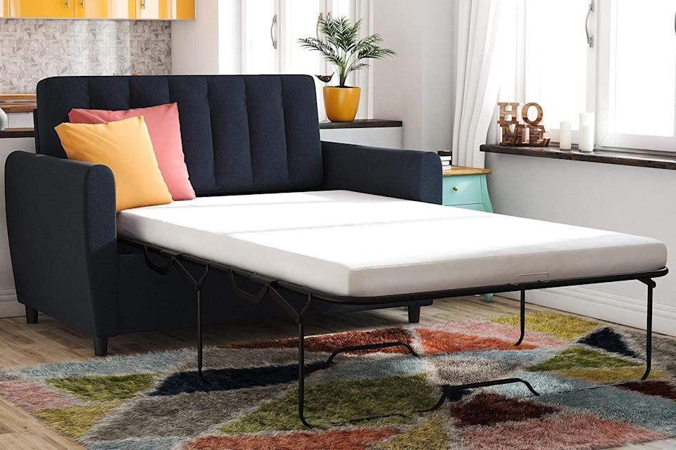 <p>This <span>Novogratz Brittany Sleeper Sofa Sleeper</span> ($454, originally $874) is a smart choice for an office or guest room.</p>