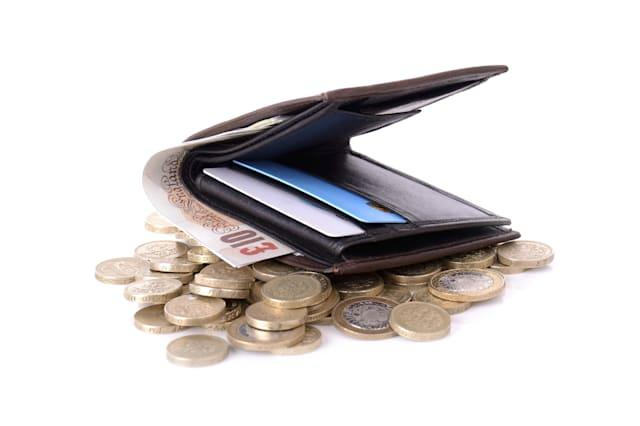 wallet on coins