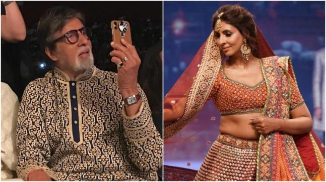 Recently, Shweta Bachchan made a stunning appearance at Abu Jani and Sandeep Khosla's fashion show. at the show, Amitabh Bachchan was spotted recording his daughter's show like a proud father.