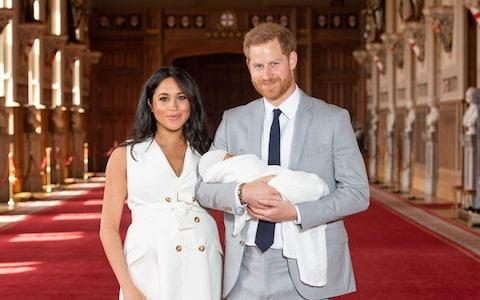 Duke and Duchess of Sussex with their baby son - Credit: Dominic Lipinski/PA