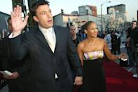 <p>The couple arrives at the L.A. premiere of Affleck's 2003 superhero film, Daredevil. </p>