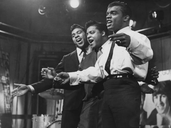 Ronald, Rudolph and O'Kelly Isley Jr – the Isley Brothers, to you and me – perform on ITV's 'Ready Steady Go' in December 1964 (Getty)