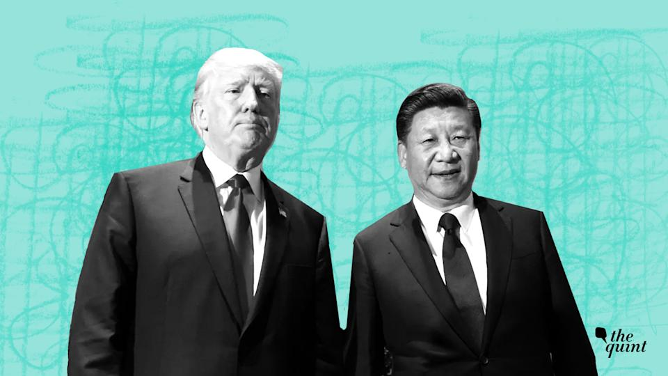 (From left to right) US President Donald Trump and Chinese President Xi Jinping.