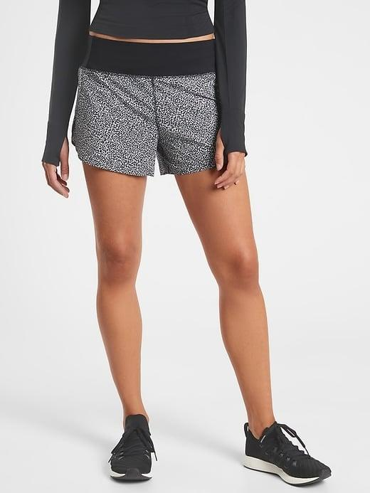 """<p>Avid joggers will surely appreciate the lined split-short <span>Athleta Printed Run With It 3.5"""" Short</span> ($59) on a short or long runs. </p>"""