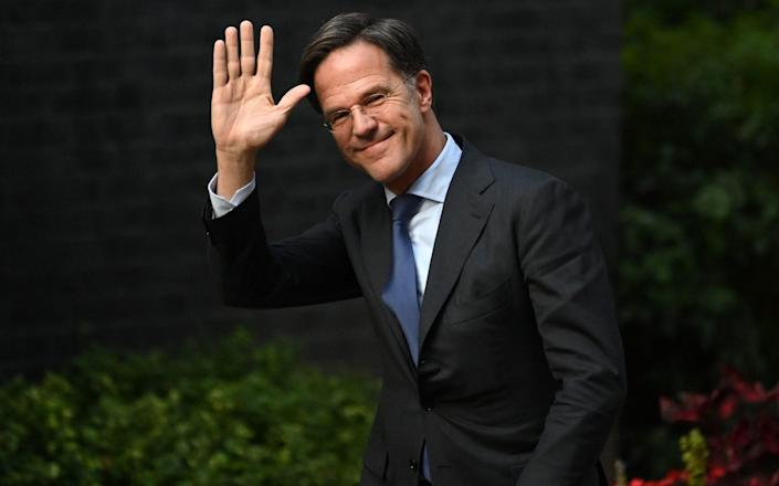 Dutch Prime Minister Mark Rutte arrives in Downing Street to meet with British Prime Minister Boris Johnson - Leon Neal /Getty Images Europe