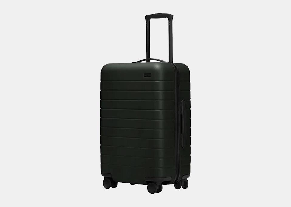 "As co-founder of the luggage and travel brand <a href=""https://cna.st/affiliate-link/2RK3okCutzzX7LkUYQ1Vrum8ewHhrE2GxJshdrg9EoQYofXdoaLbUkts9DzFNt6Z3puSCgD6ZHfb4?cid=6079b2ebb5828c9ce9981e1b"" rel=""nofollow noopener"" target=""_blank"" data-ylk=""slk:Away"" class=""link rapid-noclick-resp"">Away</a>, Filipino American <a href=""https://www.cntraveler.com/story/secrets-of-away-luggage-women-who-travel-podcast?mbid=synd_yahoo_rss"" rel=""nofollow noopener"" target=""_blank"" data-ylk=""slk:Jen Rubio"" class=""link rapid-noclick-resp"">Jen Rubio</a> promptly ensured a major <a href=""https://twitter.com/jennifer/status/1372977413299302410"" rel=""nofollow noopener"" target=""_blank"" data-ylk=""slk:contribution"" class=""link rapid-noclick-resp"">contribution</a> to Stop Asian Hate, <a href=""https://www.gofundme.com/f/support-aapi-community-fund"" rel=""nofollow noopener"" target=""_blank"" data-ylk=""slk:a community fund"" class=""link rapid-noclick-resp"">a community fund</a> to fight the surge in anti-Asian violence, in the days following the Atlanta tragedy. (Rubio also <a href=""https://www.theverge.com/2020/7/2/21312005/away-employees-steph-korey-instagram"" rel=""nofollow noopener"" target=""_blank"" data-ylk=""slk:spoke out"" class=""link rapid-noclick-resp"">spoke out</a> about the controversies surrounding her co-founder Steph Korey last summer, saying that the company is doing ""deep work"" around ""diversity, equity, and inclusion."") Best known for its savvy lightweight rolling suitcases like <a href=""https://cna.st/affiliate-link/428C3oXt36Tzp1MJjJamrmBZWsnKBst3BqbZYghnP8bomTybtCN2SikvtWozy21JurZoUZJXAdxhpKR4VBzoG1tQtej1Vz894fqPr8Mw5JqcpSsjc1PzrJJYrSUDnXVTnw6bsKJhwBxa6?cid=6079b2ebb5828c9ce9981e1b"" rel=""nofollow noopener"" target=""_blank"" data-ylk=""slk:The Bigger Carry-On"" class=""link rapid-noclick-resp"">The Bigger Carry-On</a> ($245), the lifestyle brand just launched a new line of <a href=""https://cna.st/affiliate-link/ms25gbZTiZJQJbydDr4zBAzQPkojCVAni69CmkDM4KGfCccw7umwVyfaztVJB81uznQ8WZRpoZ1QwdqXhN7nb2a9zsUM4shpqx?cid=6079b2ebb5828c9ce9981e1b"" rel=""nofollow noopener"" target=""_blank"" data-ylk=""slk:travel accessories"" class=""link rapid-noclick-resp"">travel accessories</a>, including a sleep mask, compression socks, and a travel neck pillow."