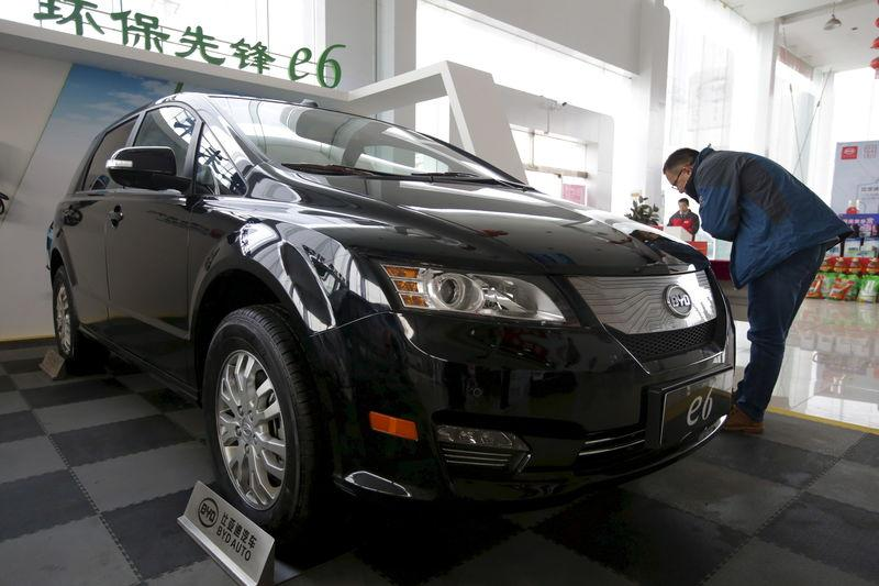 File Picture Of A Customer Checking Byd E6 Electric Car At Dealership In Beijing