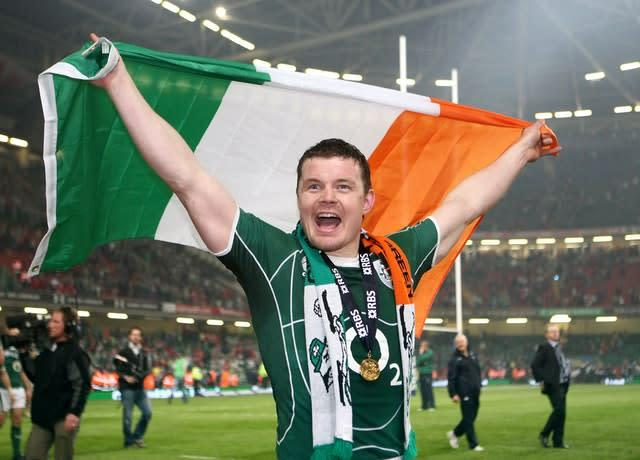 Brian O'Driscoll celebrated Ireland's first Grand Slam in 61 years (David Jones/PA)