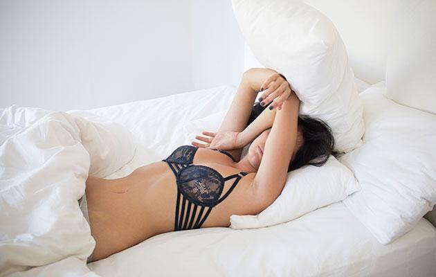 Think sleeping in your bra can reduce sagginess? Think again. Photo: Getty images