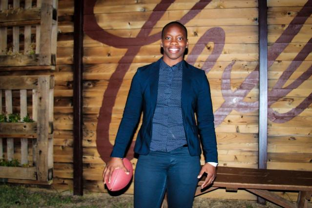 Women's National Football Conference CEO Odessa Jenkins is helping the world reimagine professional tackle football. (Photo by Amari Hollis)
