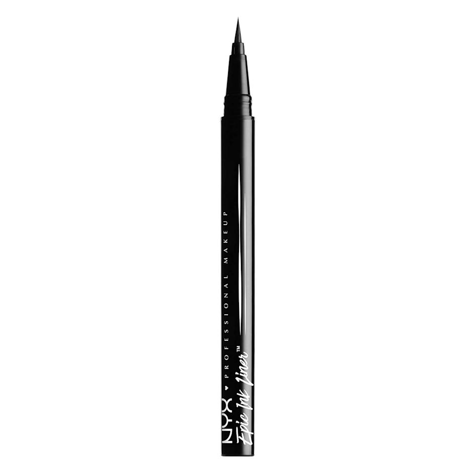 <p>To draw on the character's face tattoos, opt for a dark, long-lasting formula like the <span>NYX Professional Makeup Epic Ink Waterproof Eyeliner</span> ($9).</p>