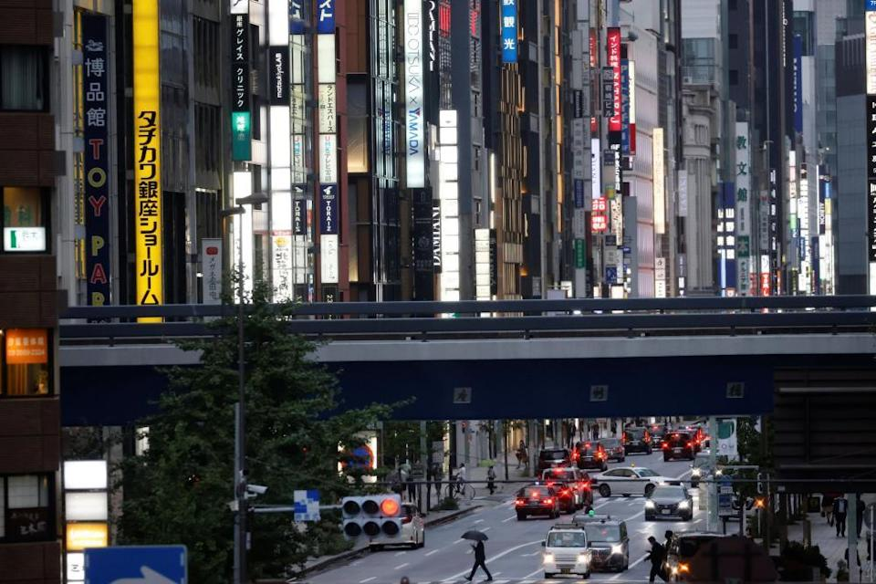 Shimbashi station in Tokyo, scene of anti-Olympics protests in the summer.