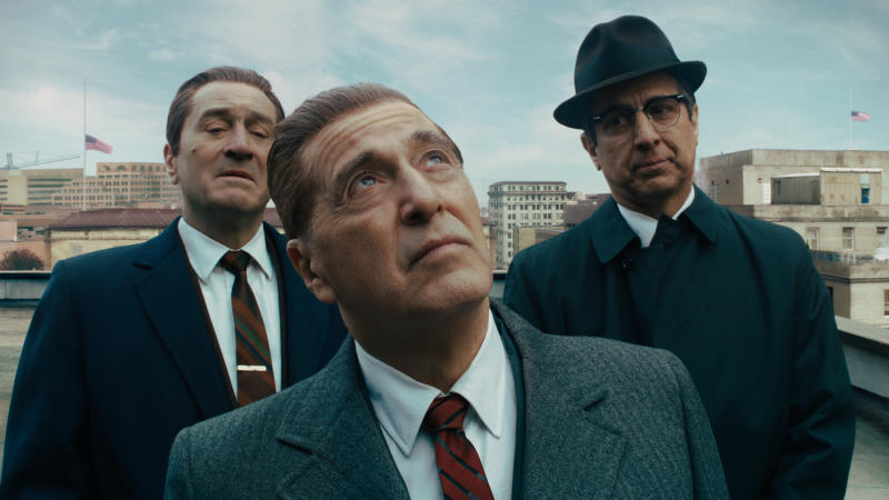Robert De Niro, Al Pacino and Ray Romano in 'The Irishman'. (Credit: Netflix)