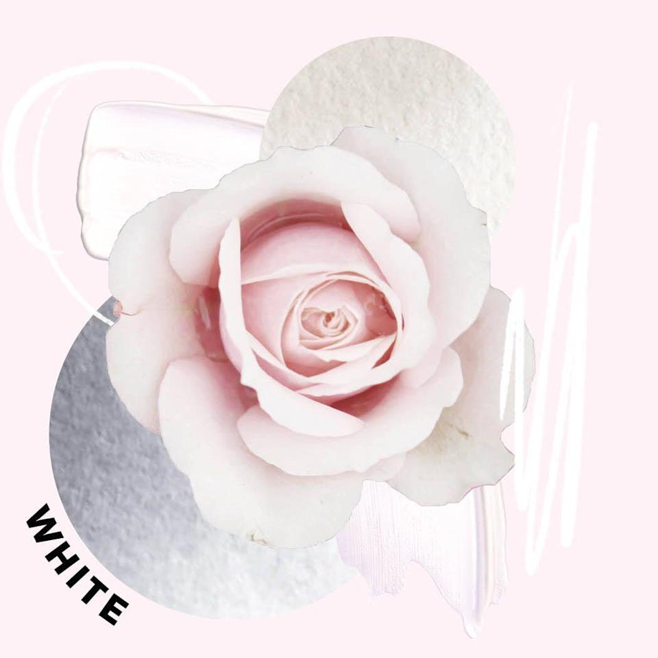 """<p>Some white roses err on the light pink side while others appear greener, with cooler undertones. You can also find some that look creamy, with a buttery yellow base. They're super common in wedding ceremonies because of their association with marriage, but they're also quite common in life's more somber moments. </p><p><strong>Symbolism: </strong>New beginnings, innocence, purity, elegance, and spirituality. </p><p><a class=""""link rapid-noclick-resp"""" href=""""https://gillyflowers.com/collections/floral-arrangements/products/compact-soft"""" rel=""""nofollow noopener"""" target=""""_blank"""" data-ylk=""""slk:BUY NOW"""">BUY NOW</a> <strong><em>Gilly Flowers Compact Soft Bouquet, $75</em></strong></p>"""