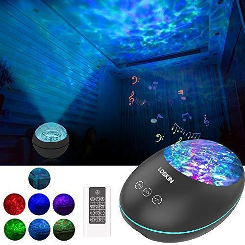 LOBKIN Night Light Projector and Ocean Night Light with Built-in Mini Music Player Sleeping Soo…